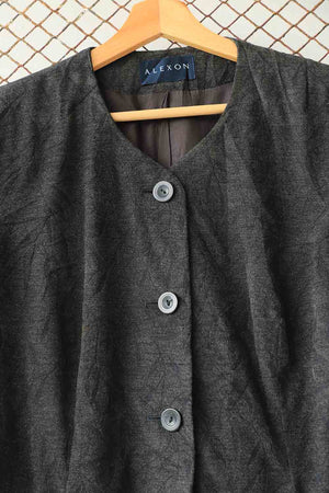 Black Textured Style Jacket