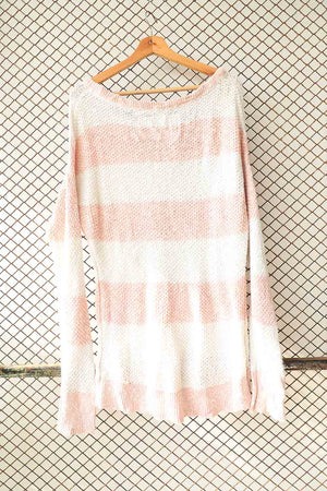 Pink and White Lounge Sweater