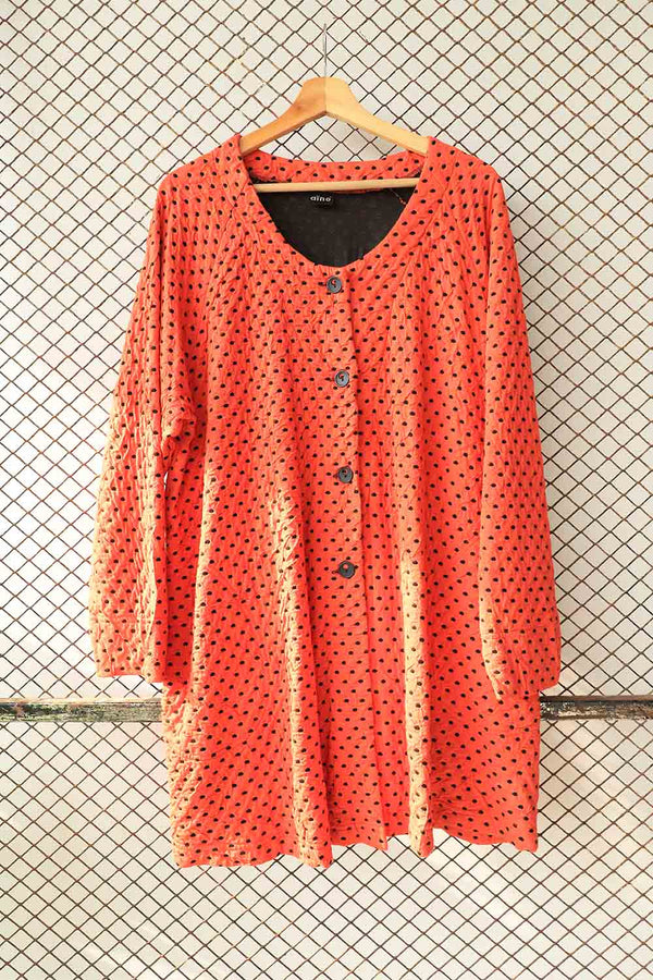 Polka Dotted Vintage Style Coat