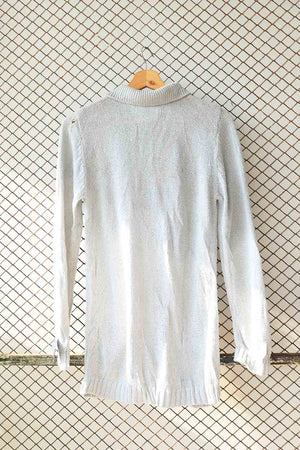 Dove Grey Knit Collar Sweater