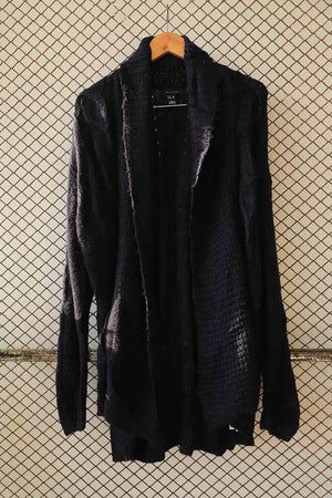 Black Crochet Knit Sweater (Brand: New Look)