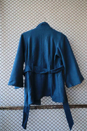 Royal Blue Short Wool Coat (Brand: Dunnes Store)