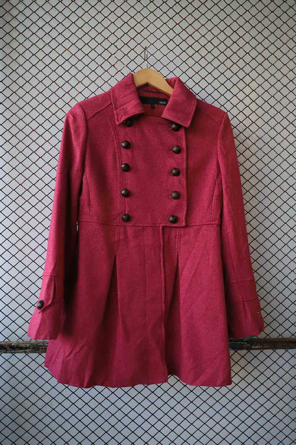 Dusty Pink Military Coat