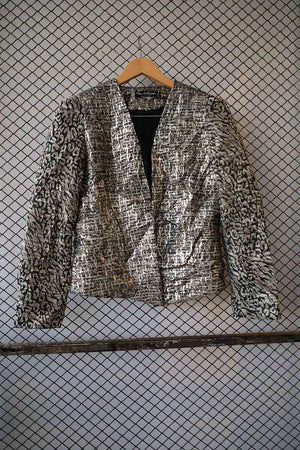 Tarnished Silver Short Fashion Jacket