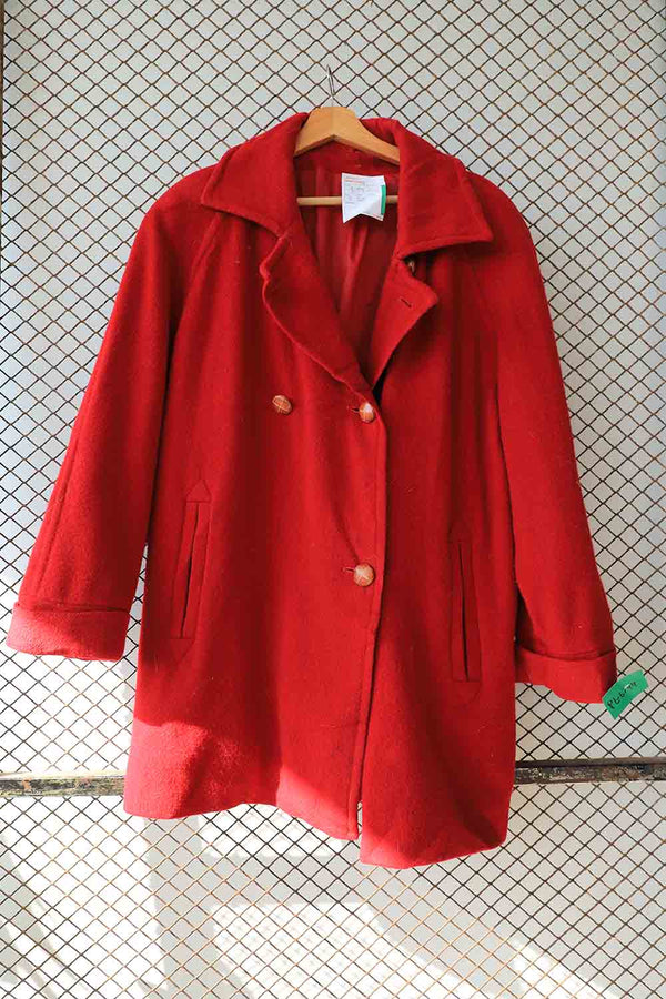 Red Long Wool Coat