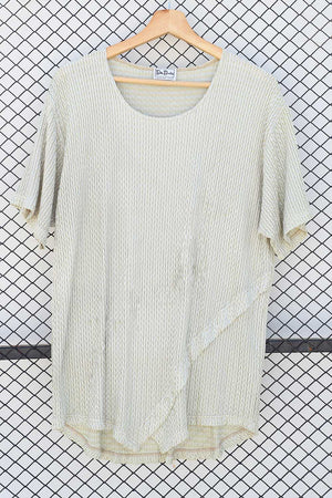 Ivory Self Pleated Dress/Top