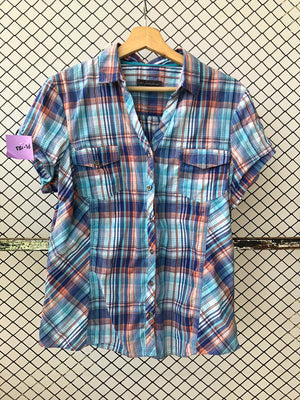 Blue and Orange Technicolour Checkered Shirt
