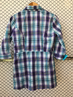 Blue and Purple Statement Checkered Shirt