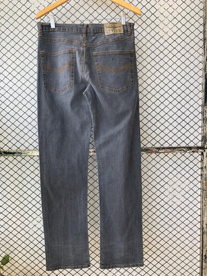 Grey Denim Straight Jeans (Brand: Kitiso)