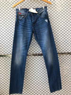 Dark Blue Faded Look Straight Jeans (Brand: Lee Cooper)