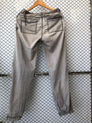Beige Faded Look Cargo Pants (Brand: L.O.G.G)