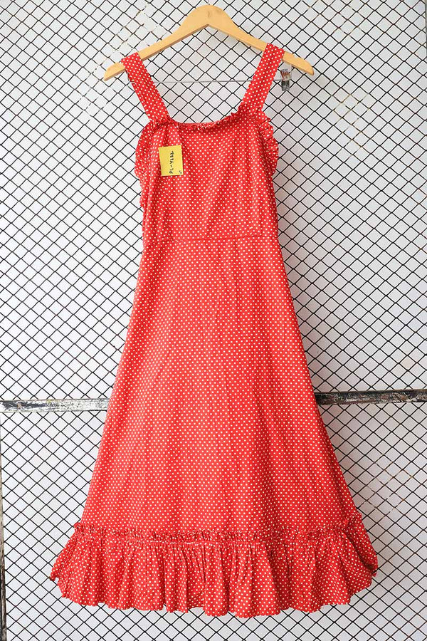 Red Polka Dotted Retro Dress