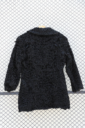 Black Fleece Fur Jacket