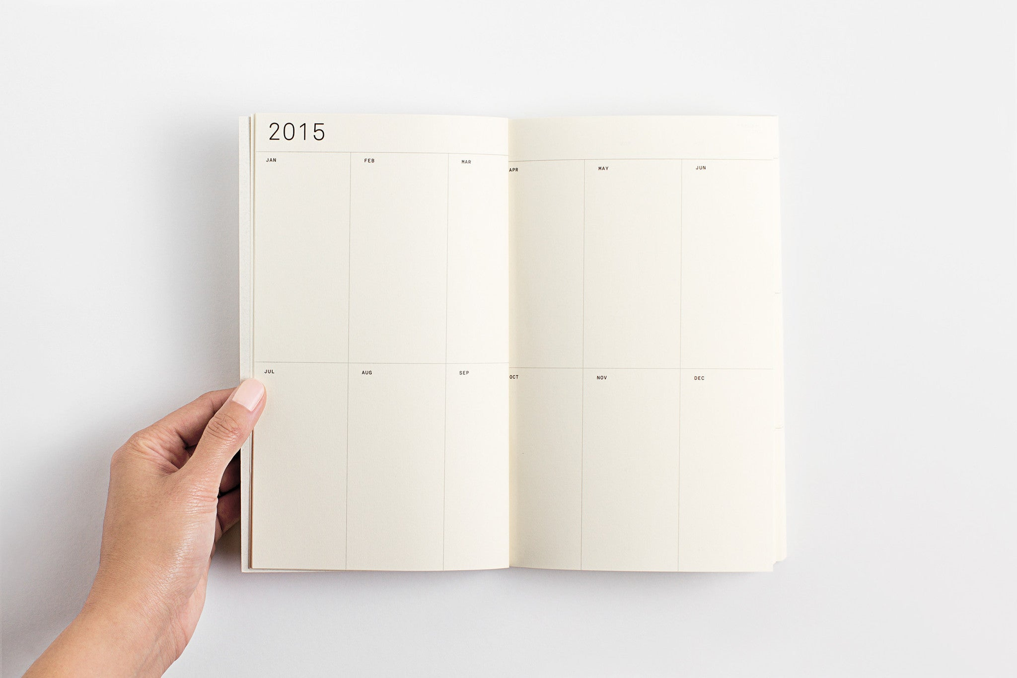 White Foil 2015 Weekly Planner