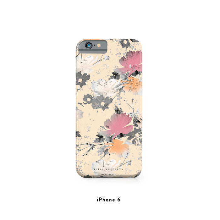 Ombre Floral - iPhone Case