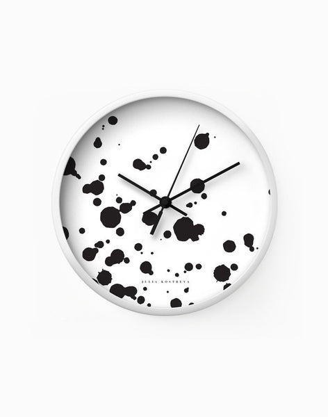 Spotted Dot - Black - Wall Clock