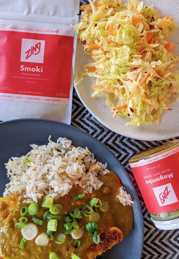 Mystery Box: Tribute to Chicken Katsu Curry + Apple Slaw