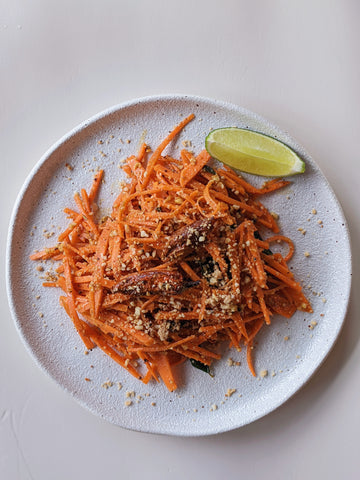 Shredded Carrot Salad with Crushed Peanuts