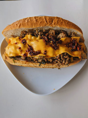 Dan Dan Style New York Chopped Cheese Sandwich
