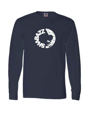 Shabazz World - Long Sleeve Shirt - Black/Red/Navy Blue