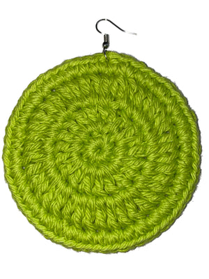 Hot Lime Crochet Hoops