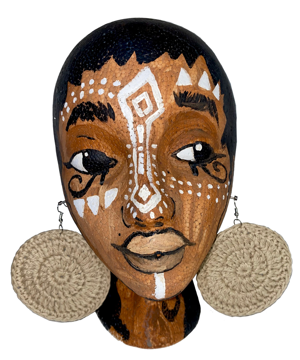 Jute Crochet Earrings