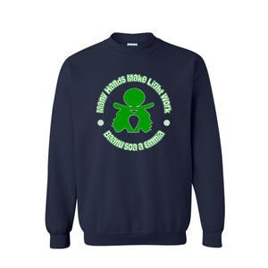 Many Hands... - Long Sleeve Sweat Shirt/Navy Blue