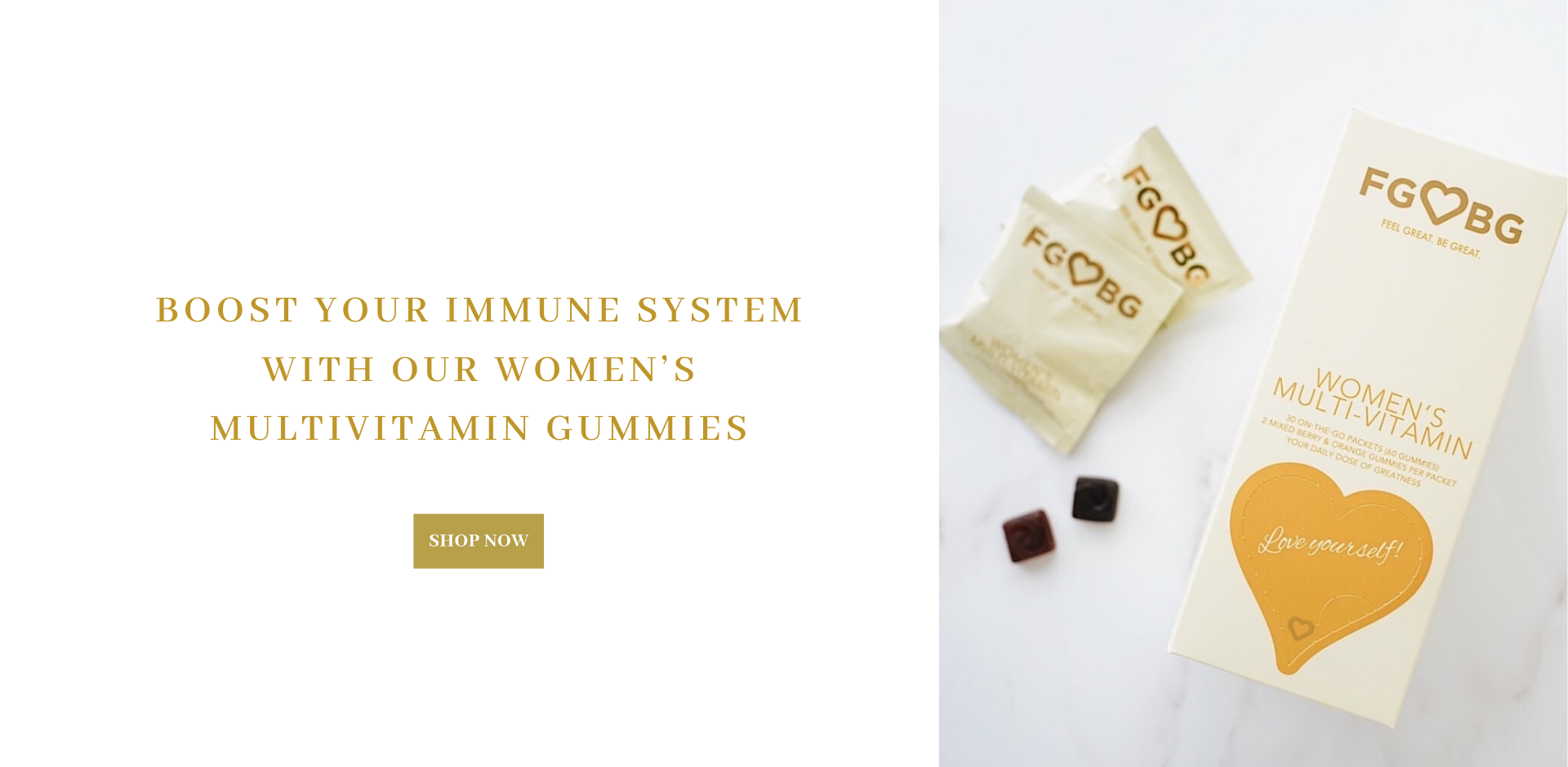 Boost your immune system with our FGBG  Women's Multi Vitamin Gummies.