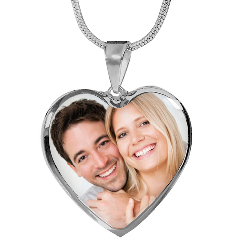 Personalized Shine On Heart Luxury Necklace