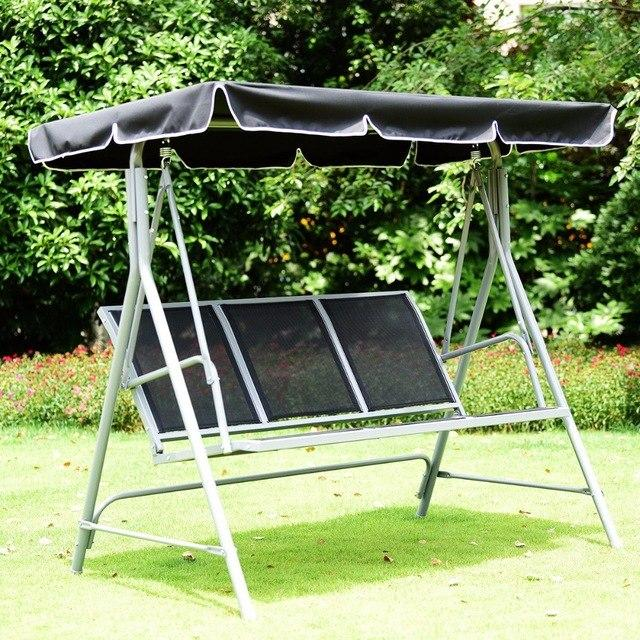 3 Person Patio Deck Swing Chair Bench