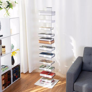 "59"" Spine Book Tower 11 Shelf Bookcase"