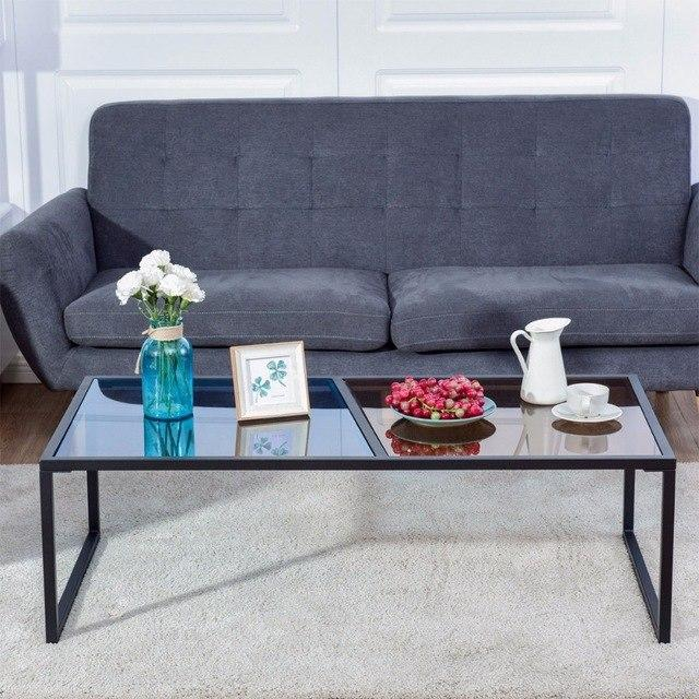 Rectangular Coffee Table Tempered Glass