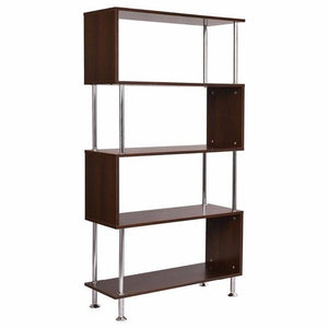 "32""x12""x58"" 4 Shelf Bookcase Wooden Modern"