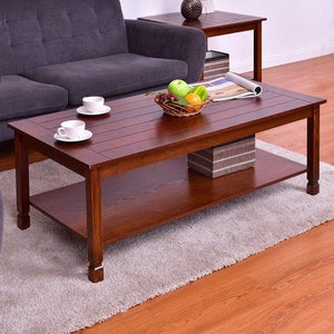 Wood Coffee Table Rectangle Cocktail Table
