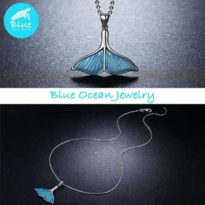 Sterling Silver Mermaid Necklace Set