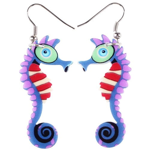 Colorful Seahorse Earrings