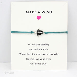 Blue Ocean Jewelry - Sea Turtles Charm Bracelet Card