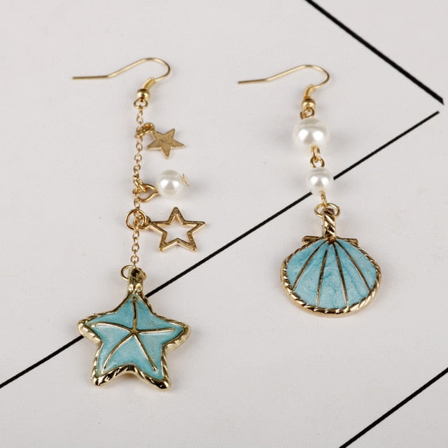Starfish Shell Earrings