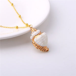 Blue Ocean Jewelry - Natural Conch Shell Pendant Necklace