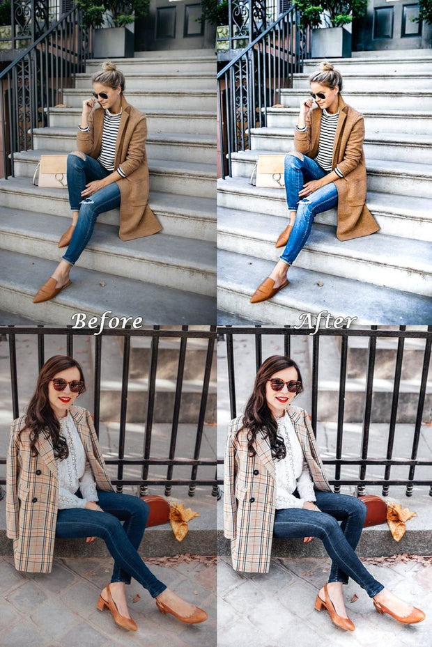 12 Mobile Lightroom Presets Lightroom Mobile Presets Instagram Preset Preset Lightroom Desktop Presets - White Fashion Blogger Preset