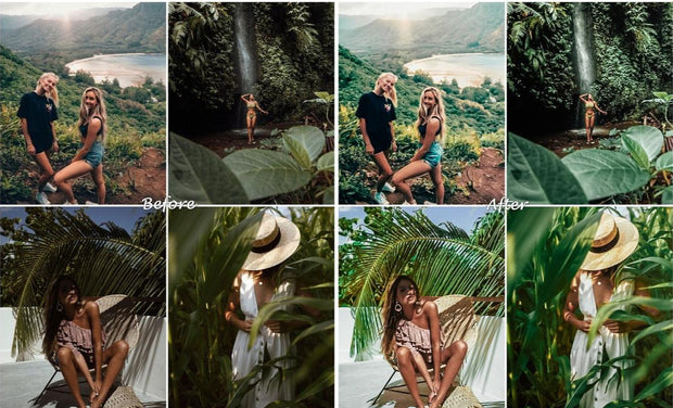 GREEN Lightroom PRESETS Mobile and Desktop - for Instagram/ Blogger/ Photo filters/ Food Presets/ Lightroom mobile presets