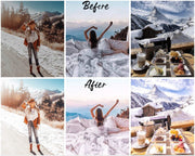 10 Lightroom Presets, Mobile Presets, Christmas Presets, Winter Preset, PC Preset, Preset Lightroom - Snowflake