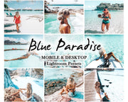 SUMMER Presets LIGHTROOM mobile and desktop PRESETS / Presets for Lightroom mobile app / Blue Paradise / instagram filter