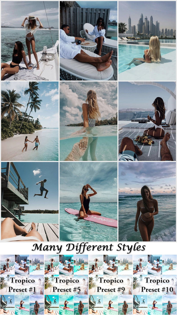 10 Mobile Lightroom Presets Tropico - Instagram Presets, Summer presets, Lightroom Mobile, Presets Mobile Lightroom, Photo Filter