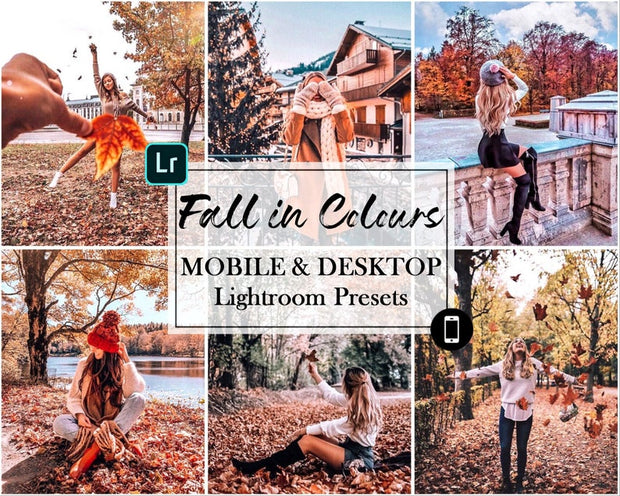 Lightroom Presets, Mobile Presets, Instagram Preset, Mobile Lightroom Preset, desktop Preset - Fall in Colours