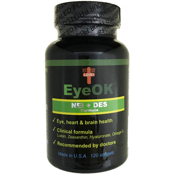 EyeOK | NEI + DES Formula | FDA Approved |120 Softgels
