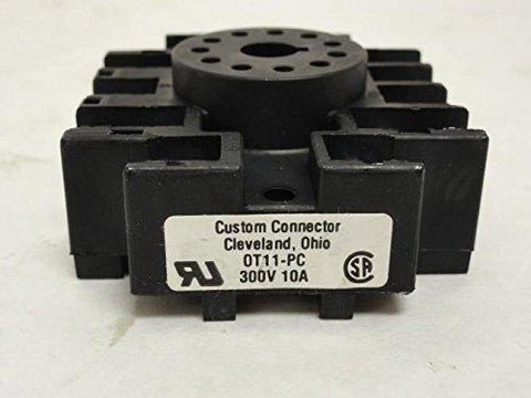 Custom Connections - 3 Pole Octal Relay Base - Part #: 0T11PC