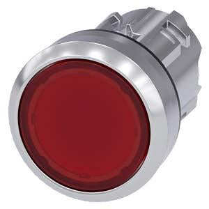 Siemens - 22mm Red Illuminated Pushbutton Mechanism - Part #: 3SU1051-0AB20-0AA0