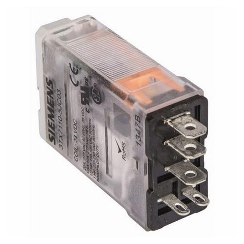 Siemens - 1 Pole Socket Relay, 24VDC - Part #: 3TX7110-5JC03