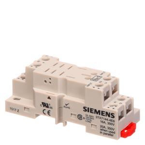 Siemens - 2 Pole Socket Relay Base - Part #: 3TX7144-4E6